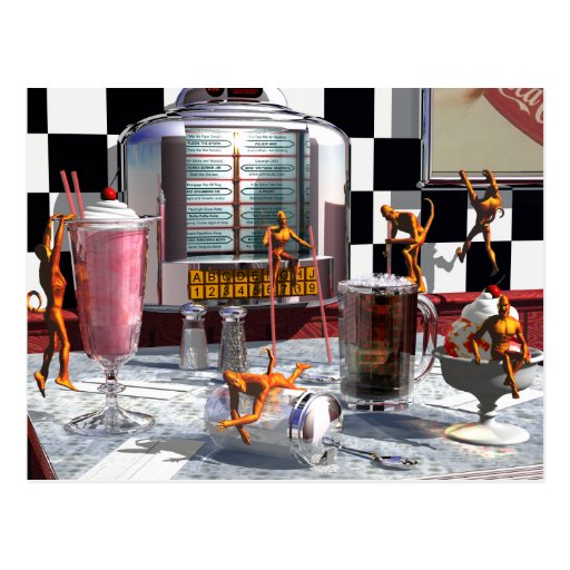 Soda Shop Demons Postcard