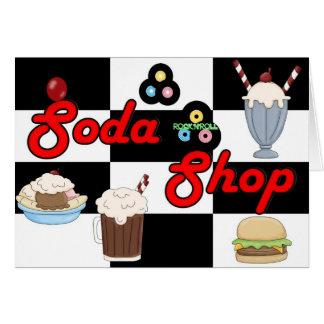 Soda Shop Rock 'n' Roll Retro Party Time Card