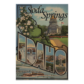 Soda Springs, Idaho - Large Letter Scenes Poster