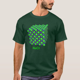 Sodium Chloride Molecular Model t-shirt