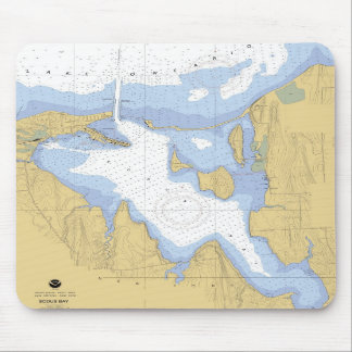 Sodus Bay NY Nautical Harbor Chart Mousepad