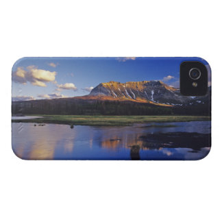 Sofa Mountain reflects into beaver pond in iPhone 4 Case