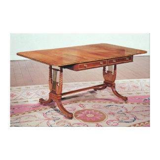 Sofa table with harp legs by Thomas Canvas Print