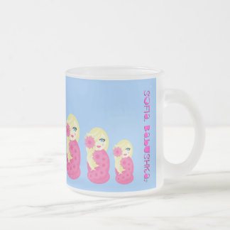 Sofia Babushka Frosted Glass Mug