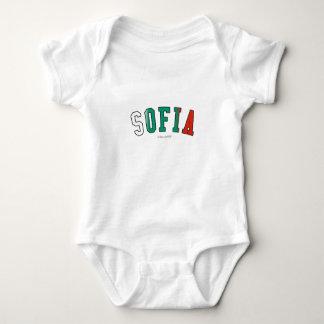 Sofia in Bulgaria national flag colors Baby Bodysuit