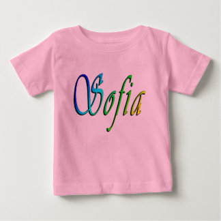 Baby name sofia gifts t shirts art posters other gift ideas sofia name logo baby girls pink t shirt negle Gallery