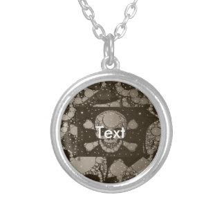 Sofia Skull Bling Round Pendant Necklace