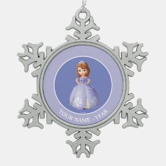 Sofia The First | Standing Add Your Name Pewter Snowflake Decoration