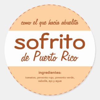 Sofrito Puerto Rico Classic Round Sticker