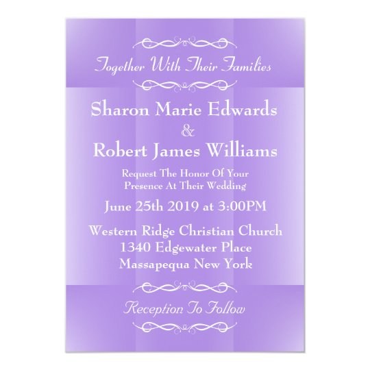 Soft Amethyst Hue Wedding Invitation