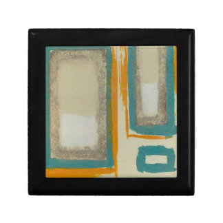 Soft And Bold Rothko Inspired Abstract Small Square Gift Box