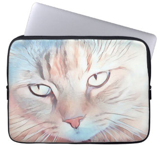 Soft and colorful cat eyes Laptop sleeve