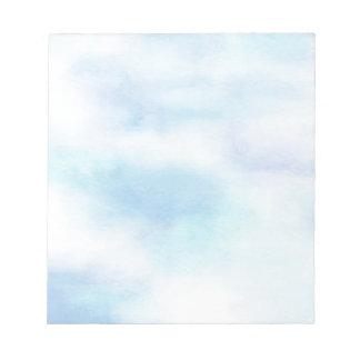 Soft Aqua Blue Sky Notepad