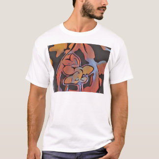 Soft Artistic Floral Design T-Shirt