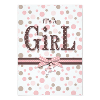Soft as a Teddy Bear Girl Invitation Card