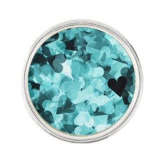 Soft Baby Blue Kawaii Hearts Background Lapel Pin