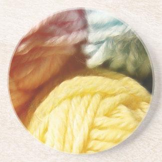 Soft Balls Of Yarn Beverage Coasters