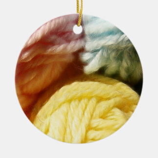 Soft Balls Of Yarn Christmas Ornament