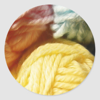 Soft Balls Of Yarn Round Sticker