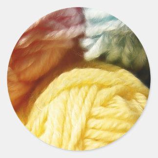 Soft Balls Of Yarn Round Sticker