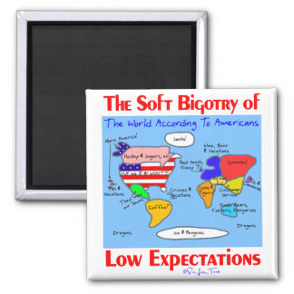 Soft Bigotry Of Low Expectations Square Magnet