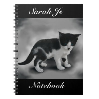 Soft Black & White Kitten Notebooks