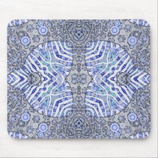 Soft Blue Animal Print Mouse Pad
