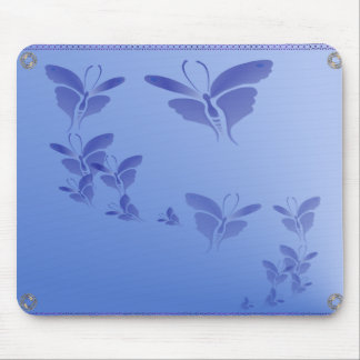 Soft Blue Butterfly  Mousepad
