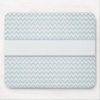 Soft Blue Chevron Pattern Chic Mousepads