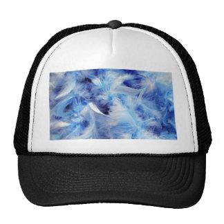 Soft Blue Feather Boa Mesh Hats