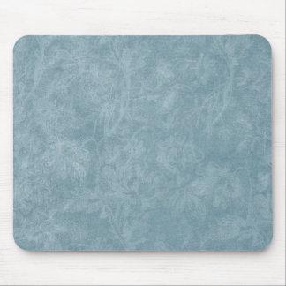 Soft Blue Floral background Mouse Pad