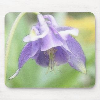 Soft Blue Petals - Aquilegia Mouse Pad
