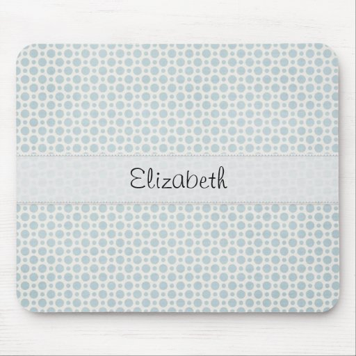 Soft Blue Polka Dots Stitched Vellum Mouse Pad