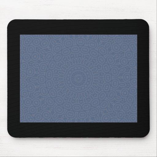 Soft blue spiral fractal design mouse pad