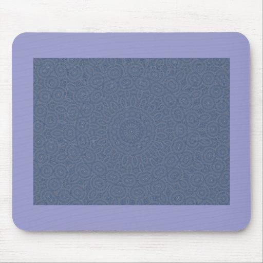 Soft blue spiral fractal design mousepad