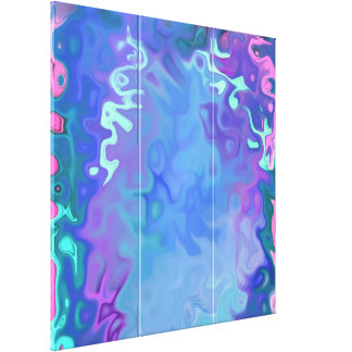 """""""Soft blueish colors 4.4"""" Canvas Print"""