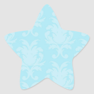 soft blues lovely damask stickers
