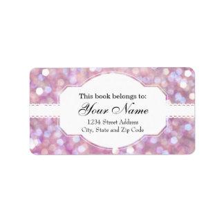 Soft Bokeh Glitter Sparkles Label