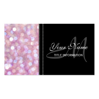 Soft Bokeh Glitter Sparkles Pack Of Standard Business Cards