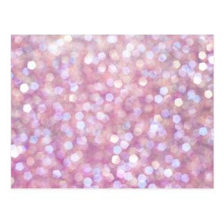 Soft Bokeh Glitter Sparkles Postcard