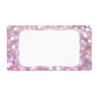 Soft Bokeh Glitter Sparkles Shipping Label