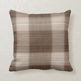 Soft Brown Line Smooth Light Pattern Throw Pillow