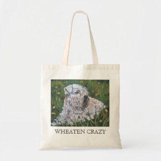 soft-coated WHEATEN CRAZY tote bag