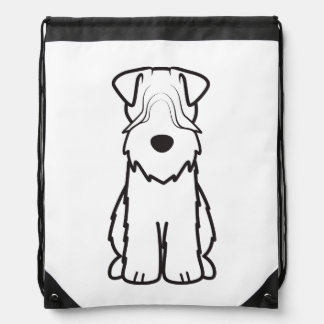 Soft Coated Wheaten Terrier Drawstring Bags