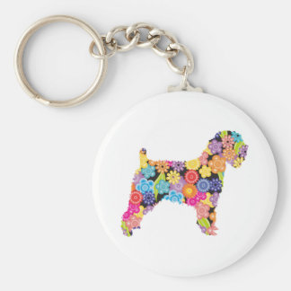 Soft Coated Wheaten Terrier Basic Round Button Key Ring