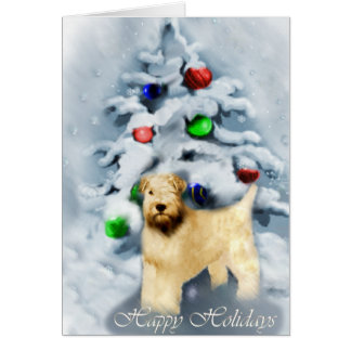 Soft Coated Wheaten Terrier Christmas Card