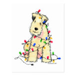 Soft Coated Wheaten Terrier - Christmas Post Card