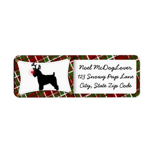Soft Coated Wheaten Terrier Christmas Return Address Label