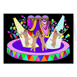 SOFT COATED WHEATEN TERRIER CIRCUS CARD