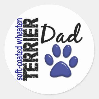 Soft-Coated Wheaten Terrier Dad 2 Round Sticker
